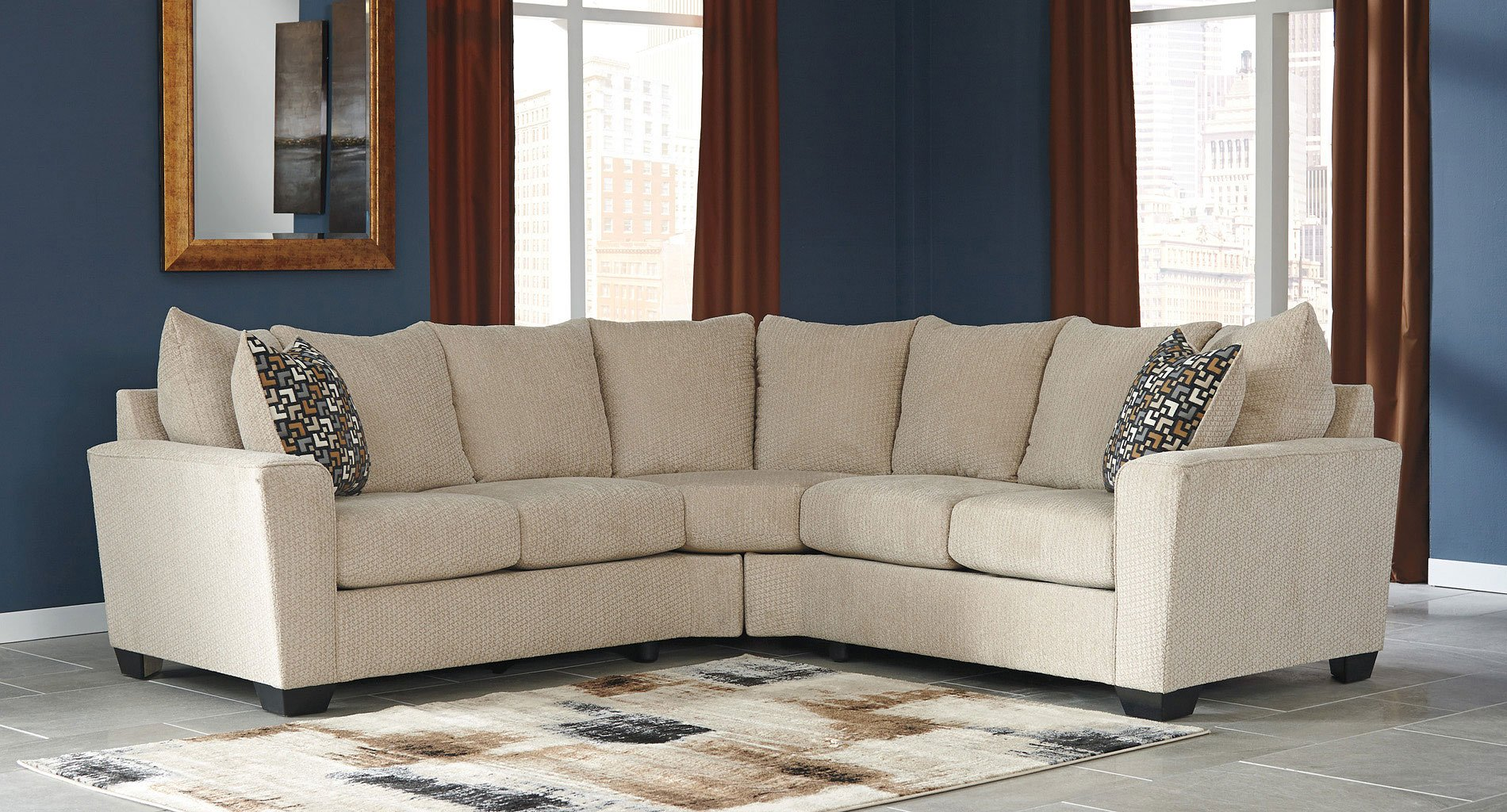 Outstanding Wixon Putty Sectional Set Caraccident5 Cool Chair Designs And Ideas Caraccident5Info