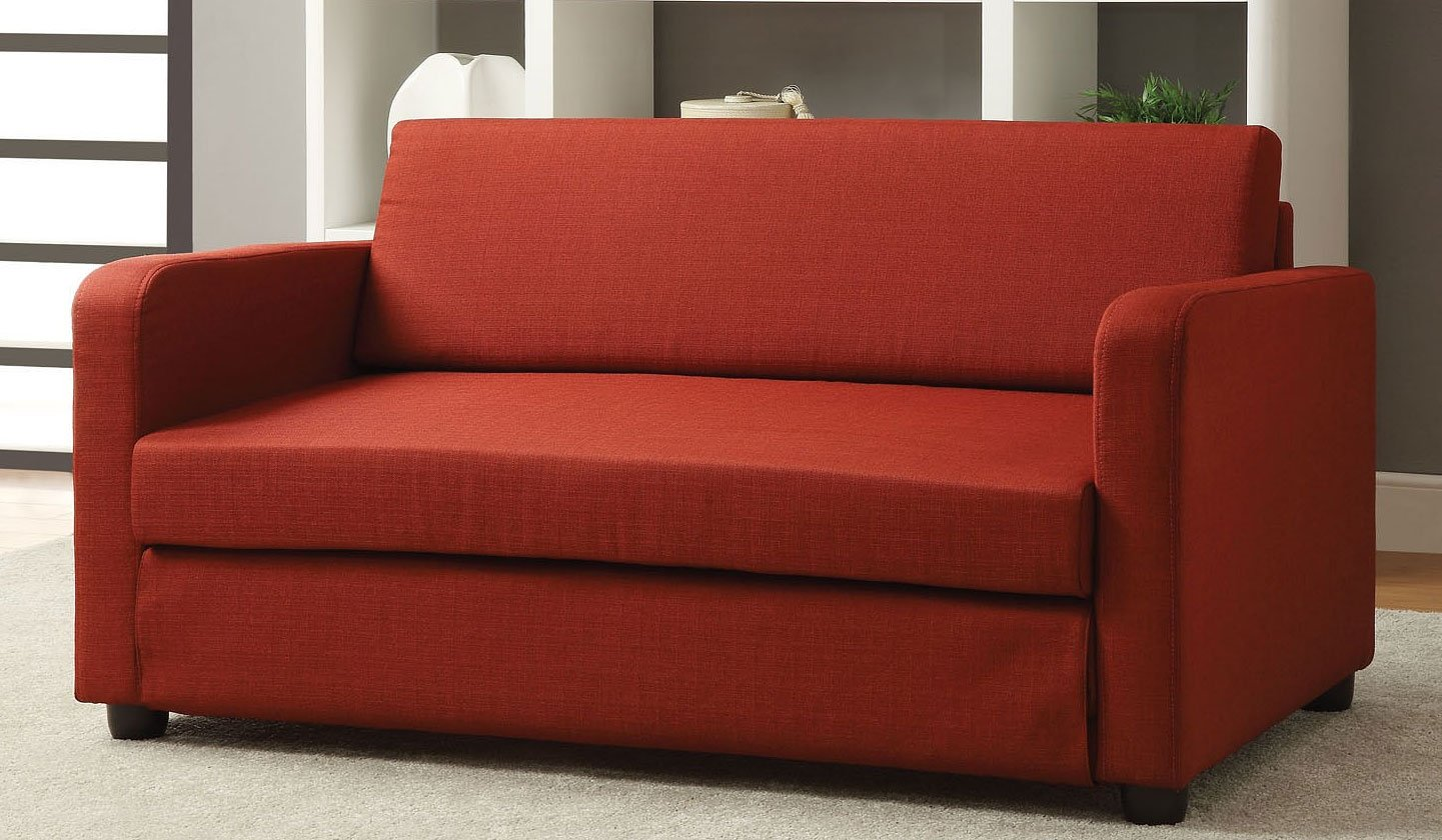 Connal Sofa Bed (Red) by Acme Furniture | FurniturePick
