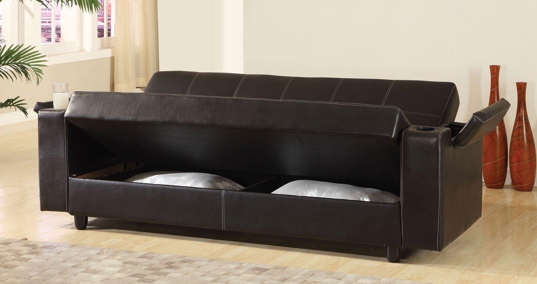 Sanya Sofa Bed W Storage And Cup Holders