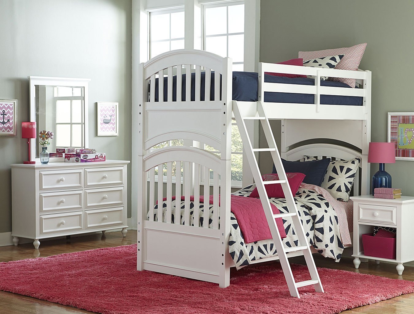 Academy Bunk Bedroom Set (White) by Legacy Classic Kids | FurniturePick