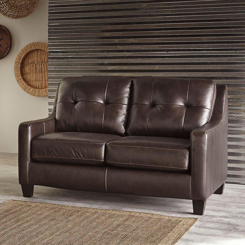 Okean Mahogany Loveseat Living Room Furniture Living
