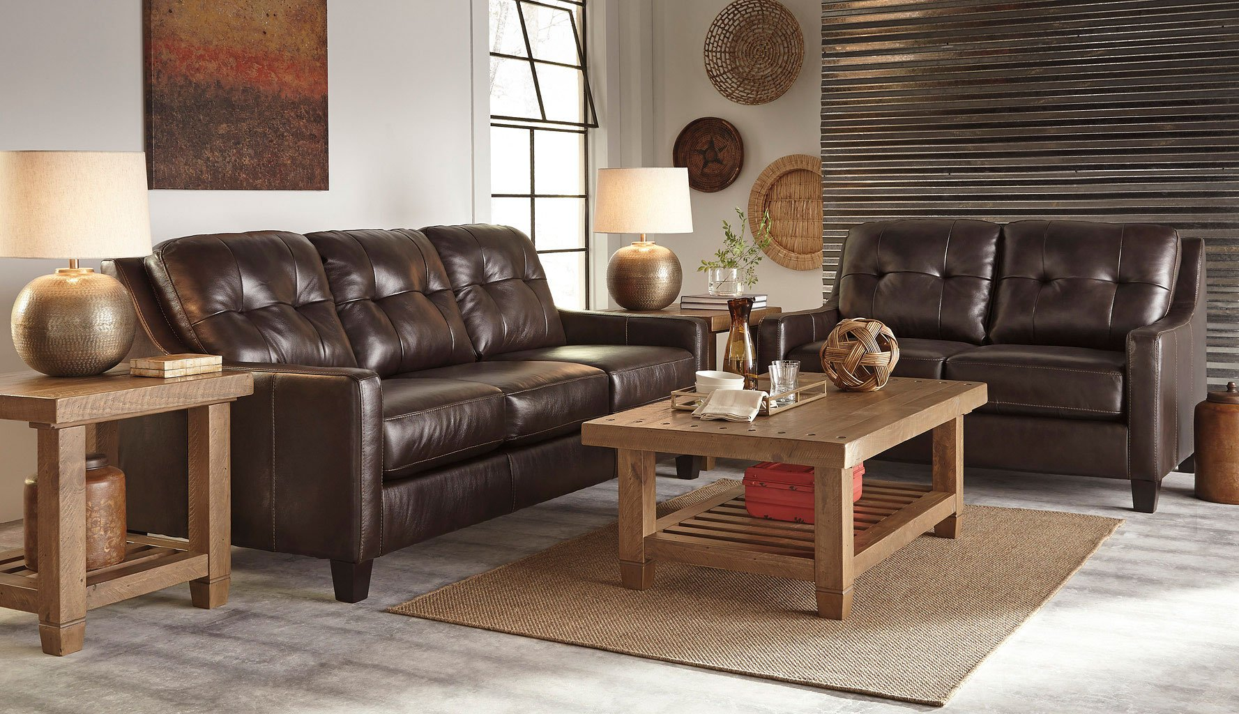 Okean mahogany living room set