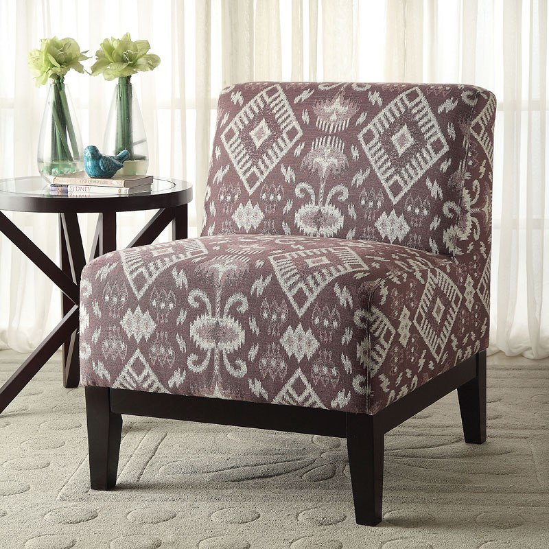 Hinte Accent Chair (Blue Pattern)