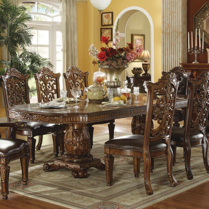 Vendome Double Pedestal Dining Table (Cherry)