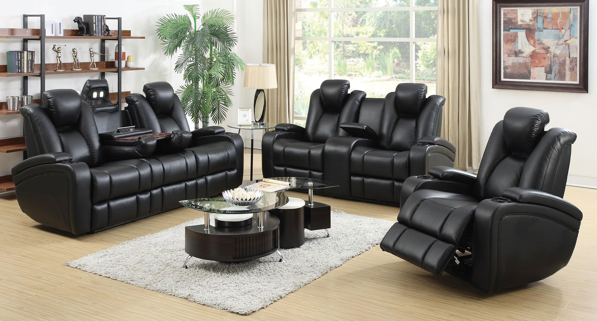 Delange Power Reclining Living Room Set By Coaster
