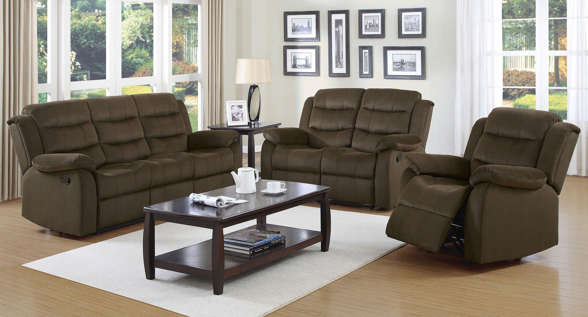 Rodman Reclining Living Room Set Chocolate Living Room Sets Living Room Furniture Living