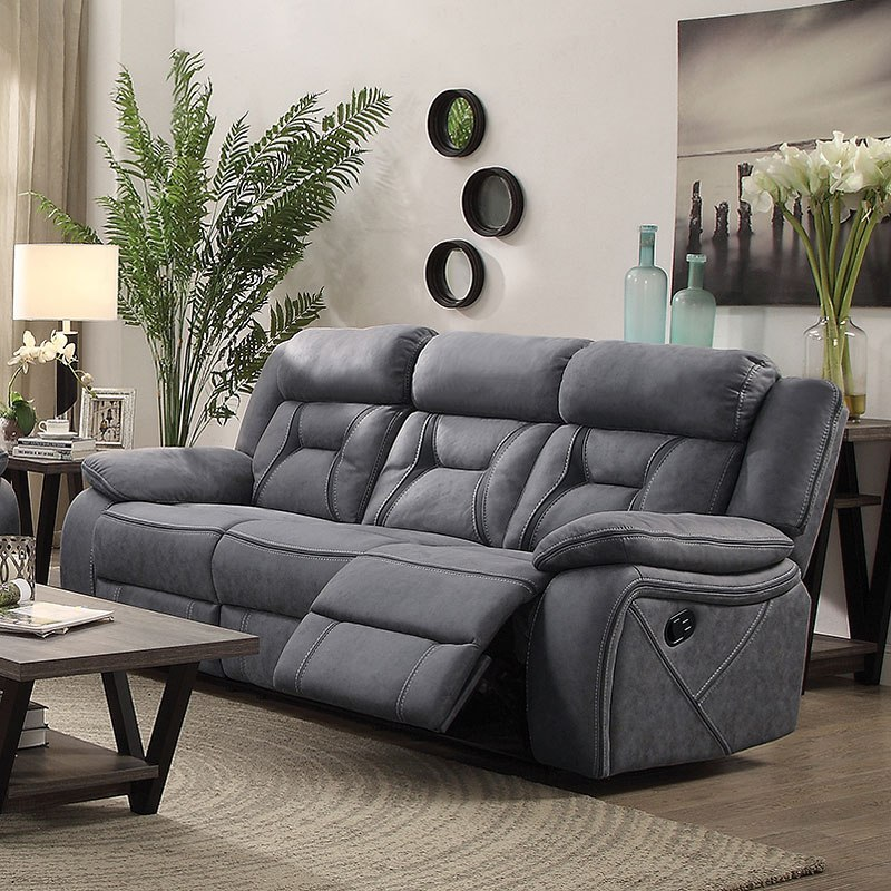 Sectional Couch Houston Tx: Houston Reclining Sofa (Stone) By Coaster Furniture