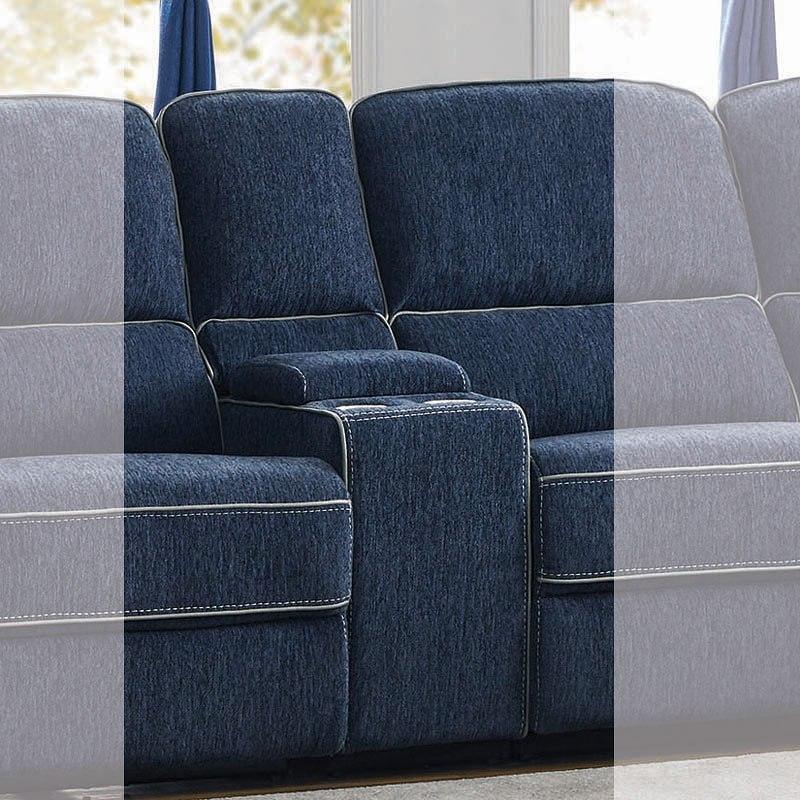 Marvelous Dundee Modular Power Reclining Sectional W Power Headrests Navy Blue Inzonedesignstudio Interior Chair Design Inzonedesignstudiocom