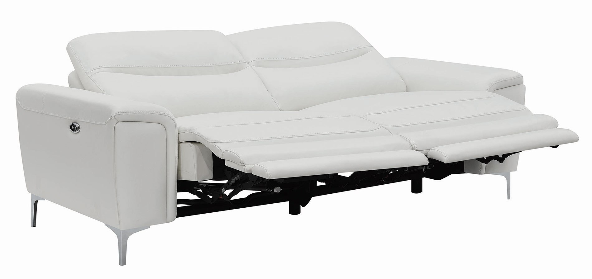 Largo Reclining Sofa White By