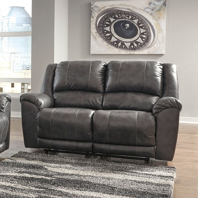 Persiphone Charcoal Power Reclining Living Room Set By