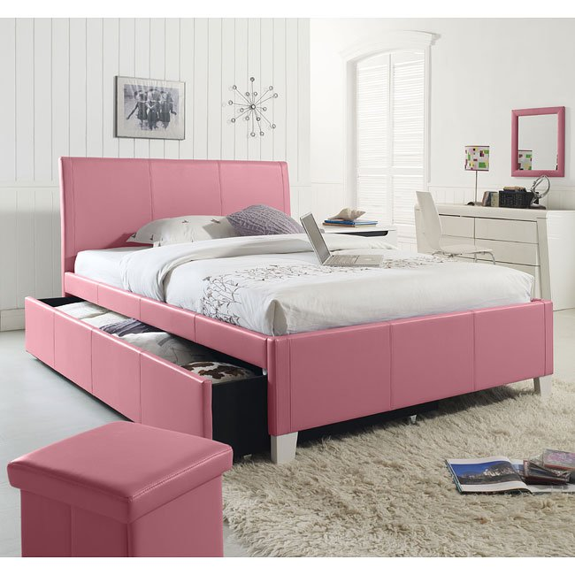 Outstanding Fantasia Pink Upholstered Bed W Trundle Download Free Architecture Designs Pushbritishbridgeorg