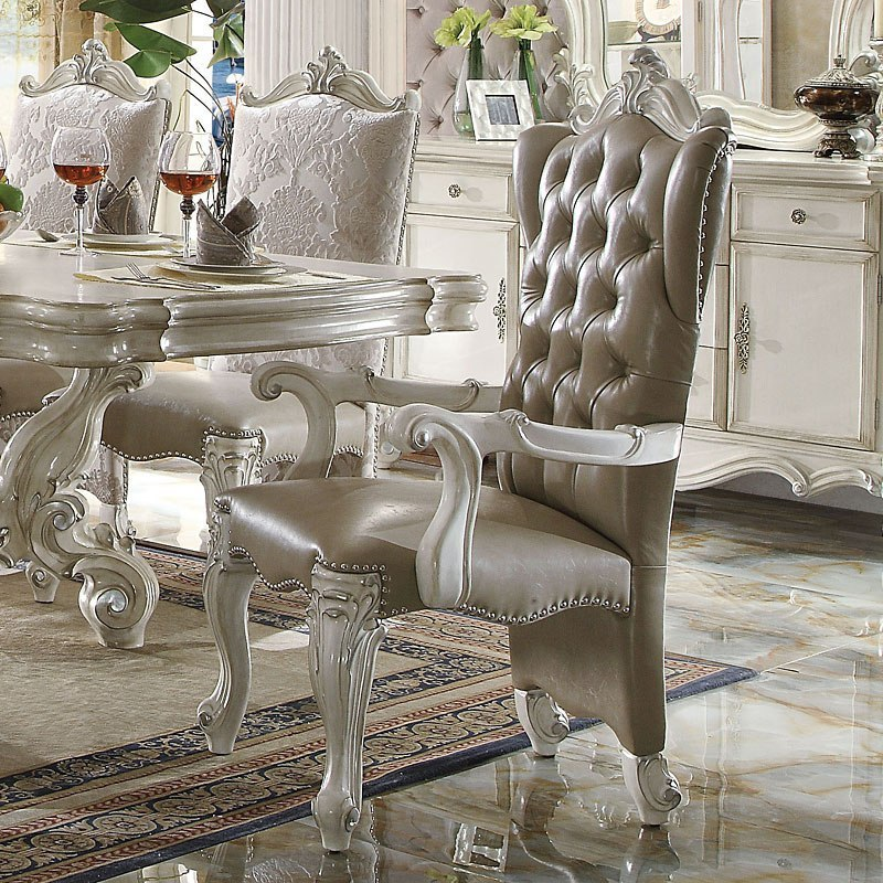 Acme Furniture White Versailles Dining Room Set Classic: Versailles 96 Inch Dining Room Set (Bone White) By Acme