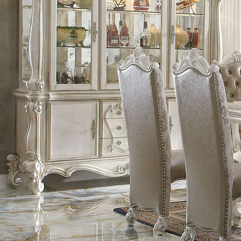 Versailles Counter Height Dining Room Set (Bone White) By