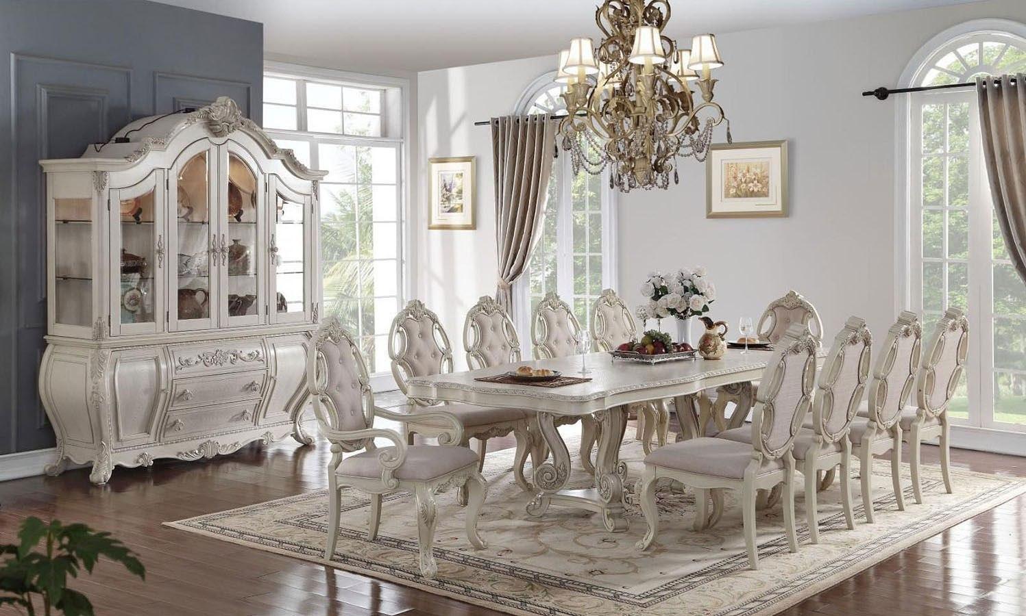 Ragenardus Dining Room Set (Antique White) - Ragenardus Dining Room Set (Antique White) - Dining Room And Kitchen