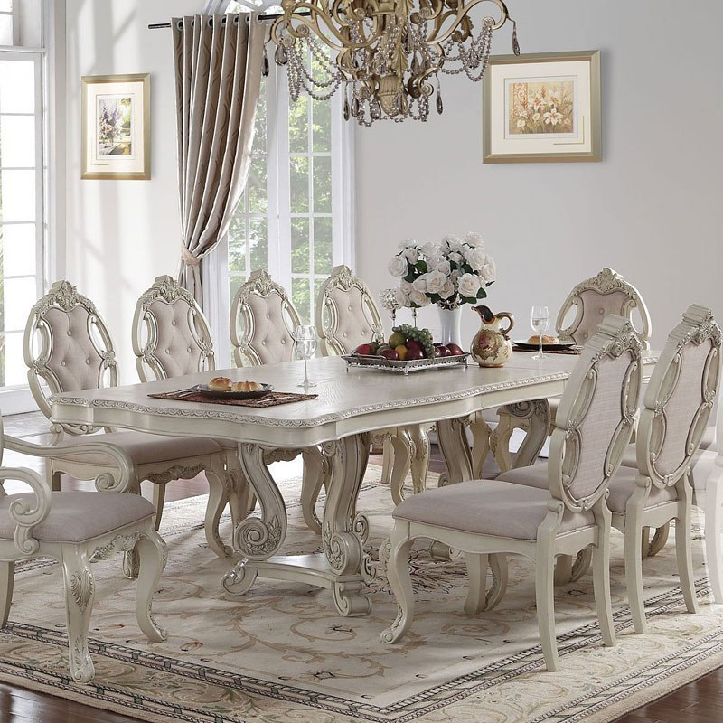 Ragenardus Dining Table Antique White By Acme Furniture