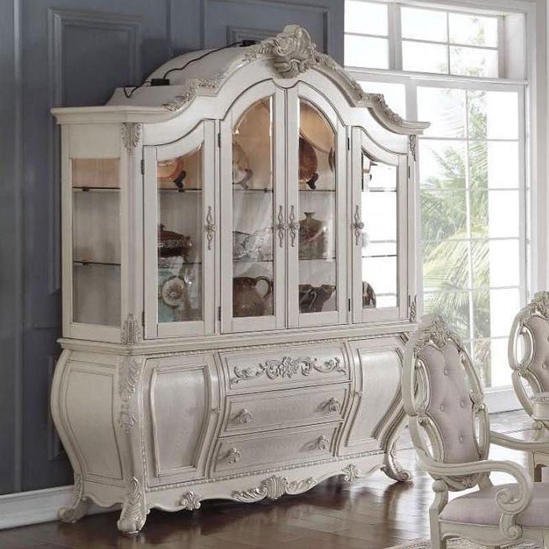 Ragenardus Buffet W/ Hutch (Antique White) By Acme
