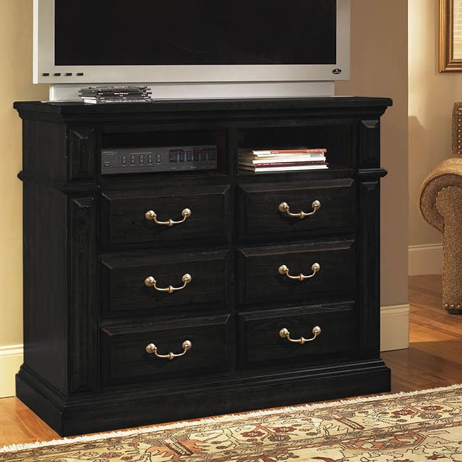 Torreon Media Chest Antique Black Media Chests Media