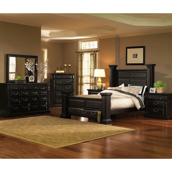 Torreon Poster Storage Bedroom Set (Antique Black) - Torreon Poster Storage Bedroom Set (Antique Black) - Bedroom