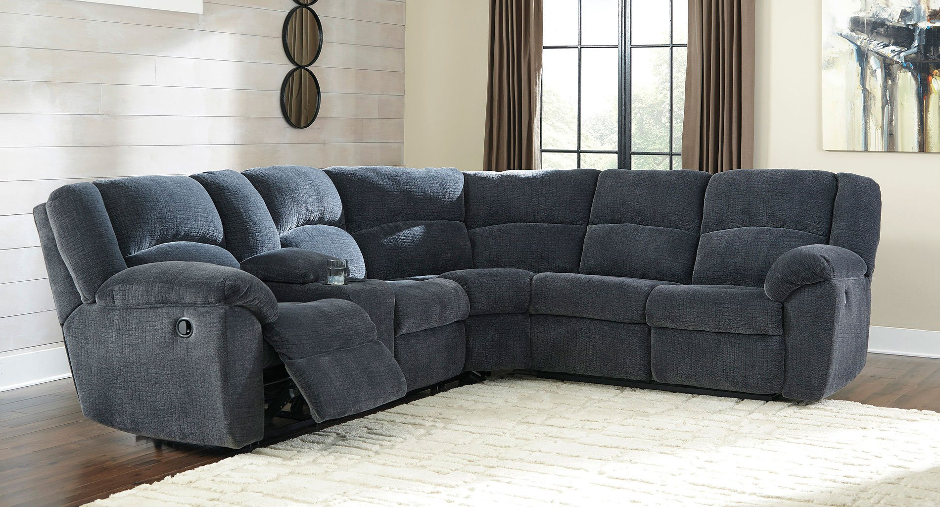 Timpson Indigo Reclining Sectional Sectionals Living