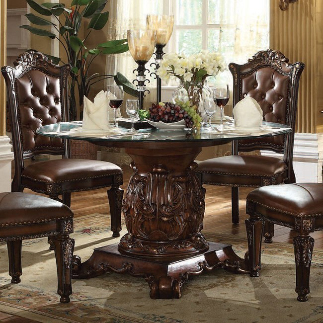 Vendome Traditional Formal Dining Room Cherry Finish: Vendome 54 Inch Class Dining Table (Cherry) By Acme