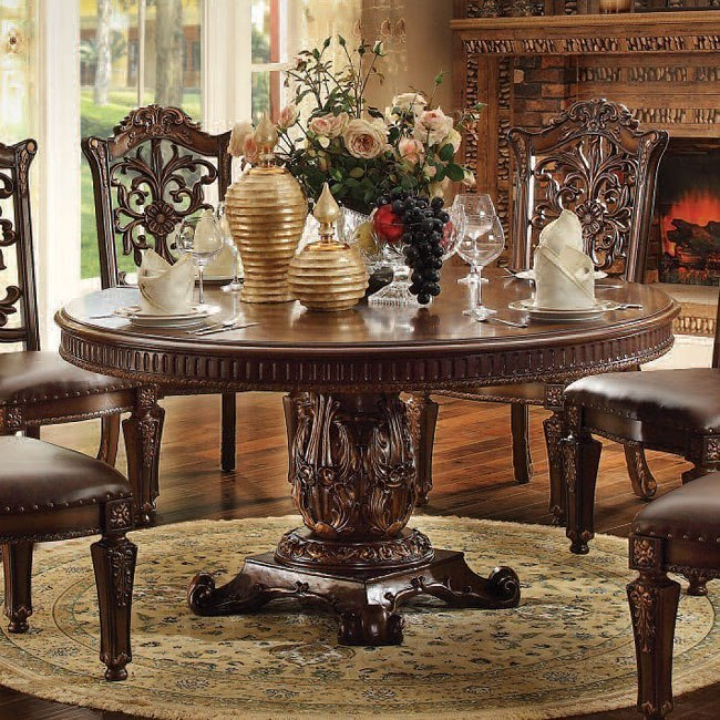 Vendome 72 Inch Round Dining Table Cherry By Acme Furniture