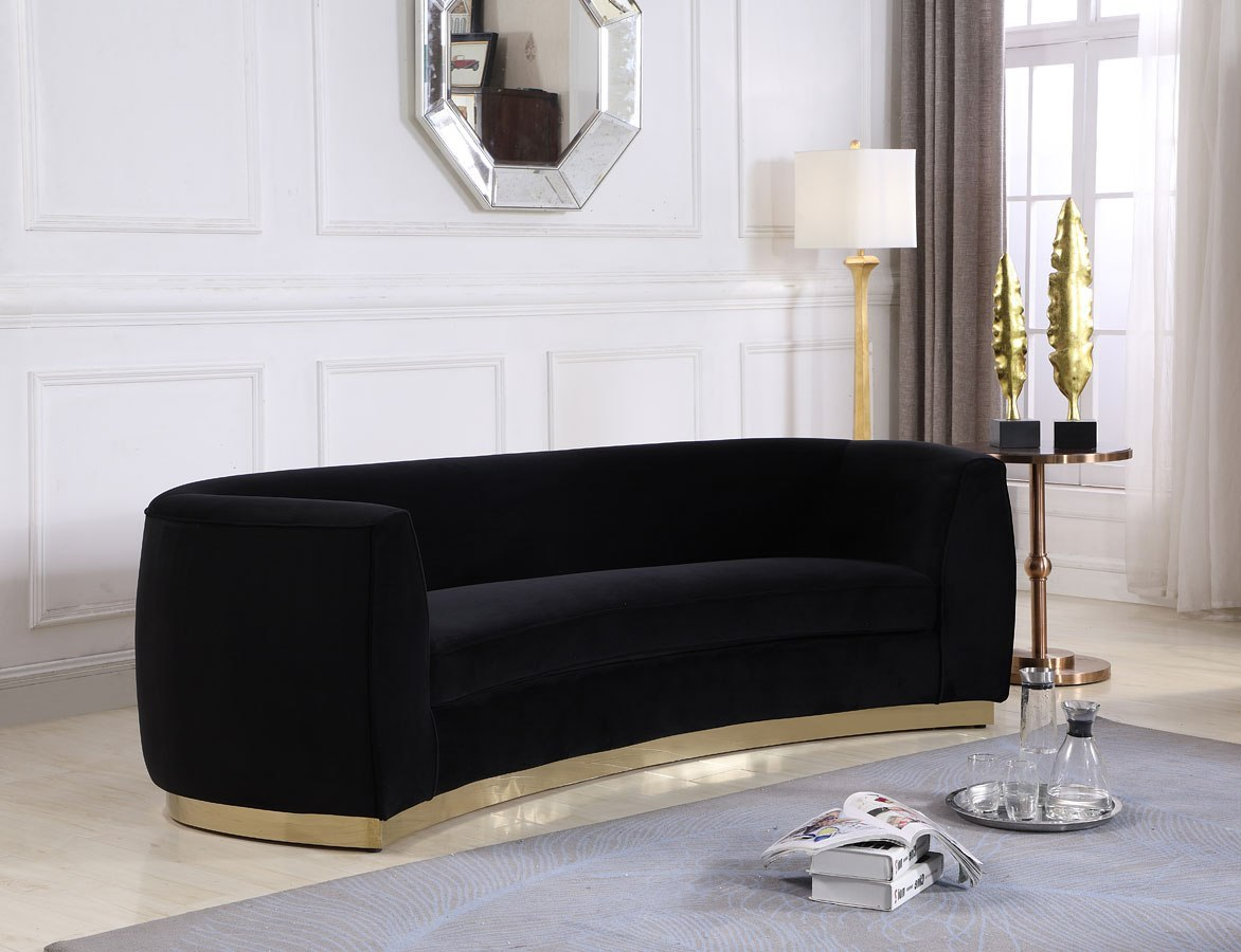 Julian sofa black gold by meridian furniture furniturepick