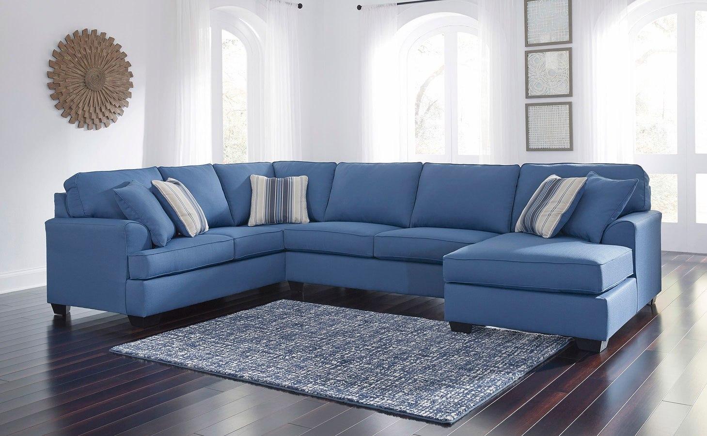 Brioni Nuvella Blue Sectional Set by Benchcraft   FurniturePick