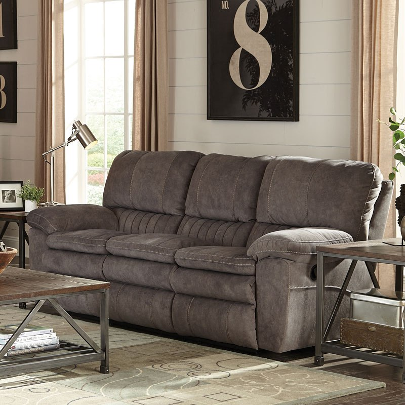 Reyes Power Lay Flat Reclining Sofa (Graphite) by Catnapper ...