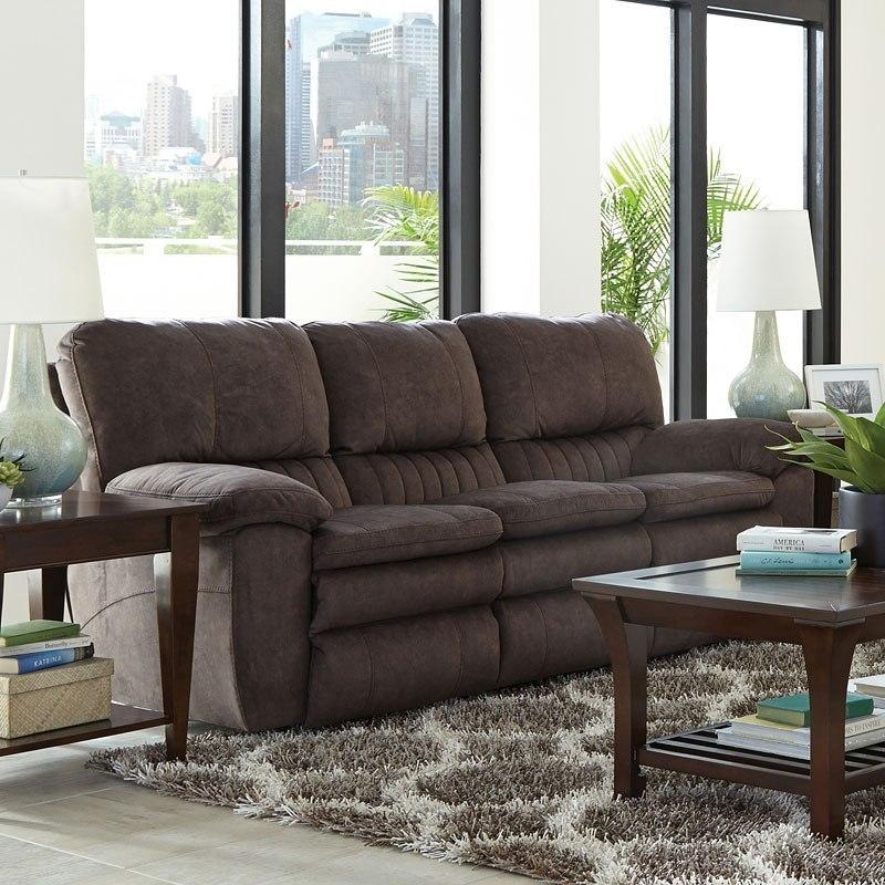 Reyes Power Lay Flat Reclining Sofa (Chocolate) by Catnapper ...
