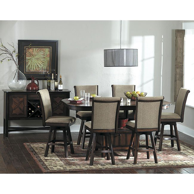 Westwood Counter Height Dining Set W/ Swivel Chairs