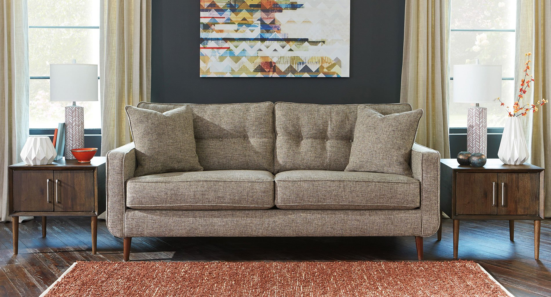 Chento Jute Sofa By Benchcraft 1 Review S Furniturepick