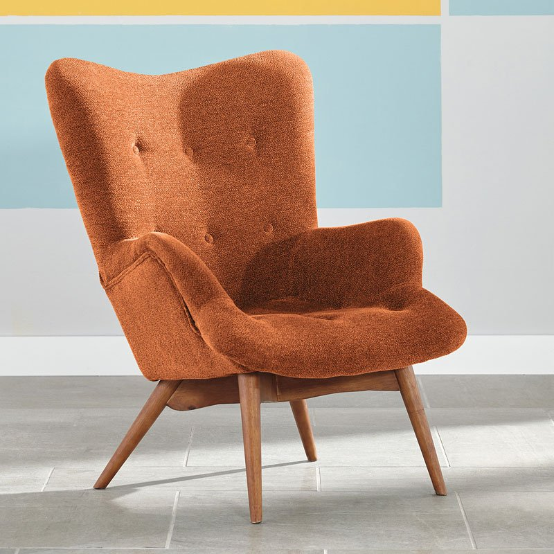 Pelsor Orange Accent Chair Accent Chairs Living Room