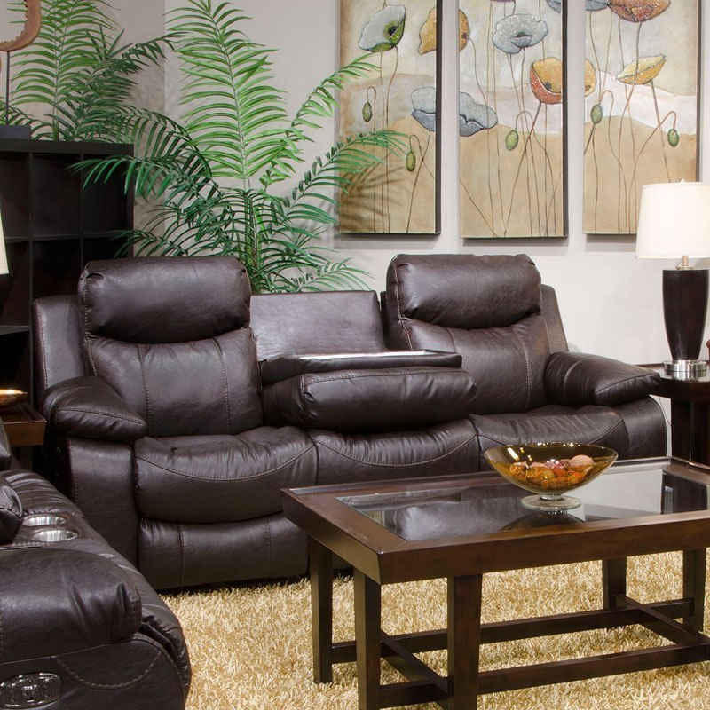 Connor Power Lay Flat Reclining Sofa W Drop Down Table And Power