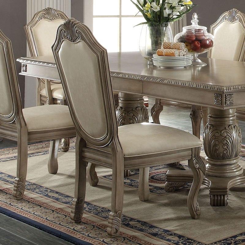 Chateau De Ville Side Chair Antique White Set Of 2 By