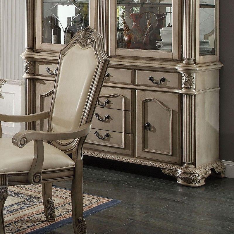 Chateau De Ville Dining Room Set Antique White By Acme