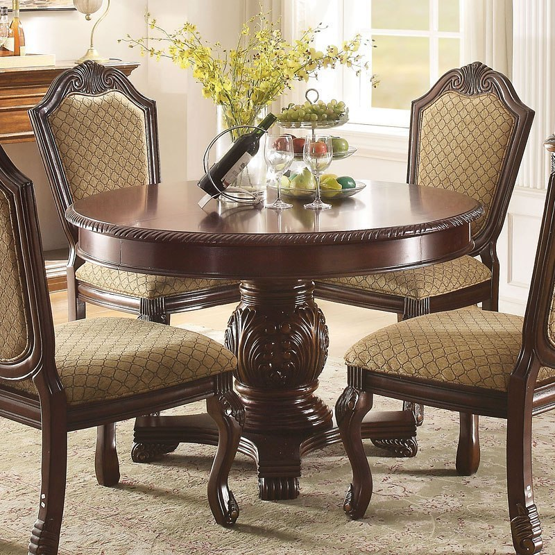 Chateau De Ville Round Dining Table Espresso By Acme