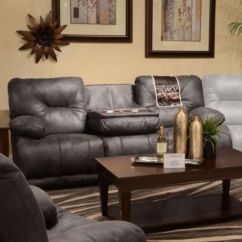 Voyager Lay Flat Reclining Sofa Slate