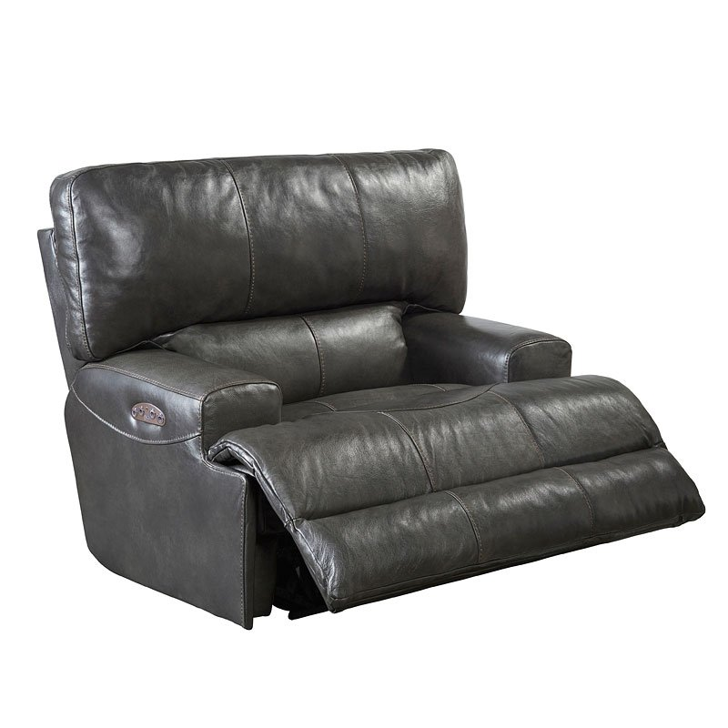 Wembley Power Lay Flat Reclining Living Room Set Steel