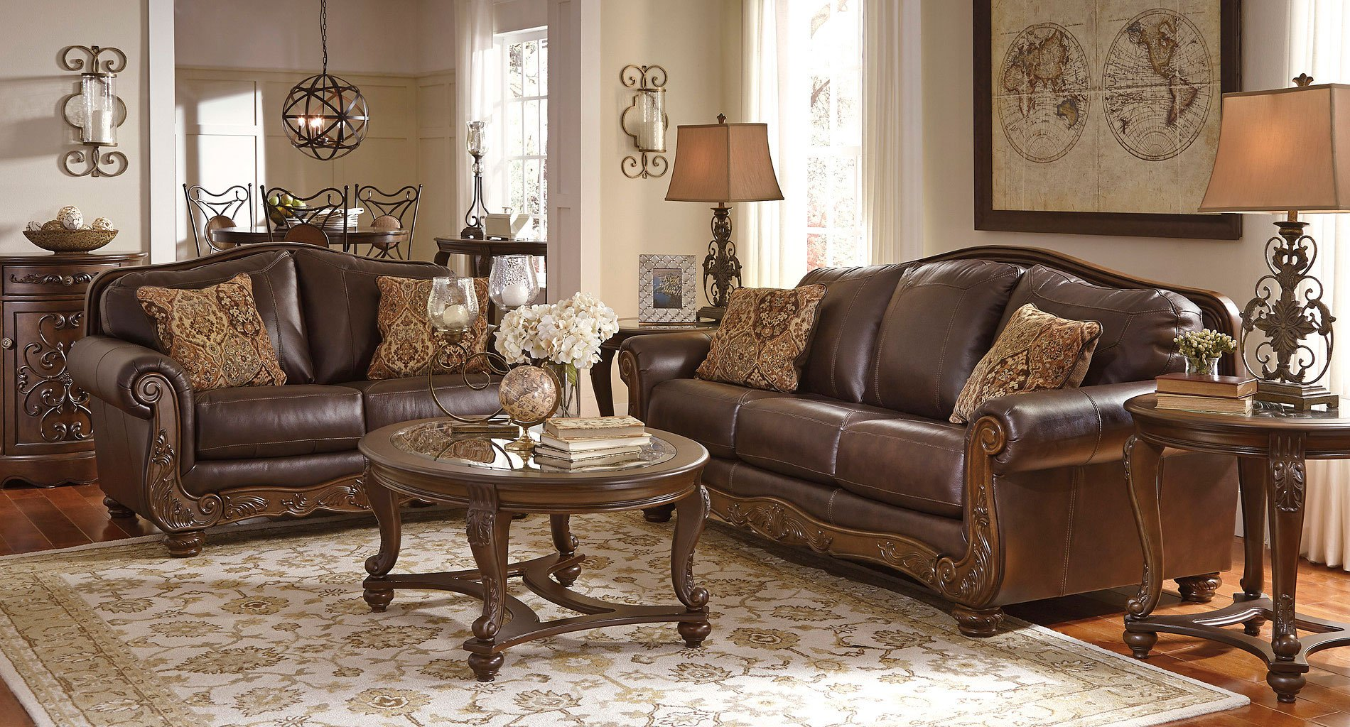 Mellwood Walnut Living Room Set By Signature Design By Ashley 1 Reviews Furniturepick