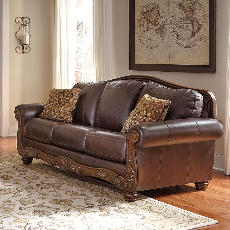 Mellwood Walnut Sofa Sofas Living Room Furniture Living Room