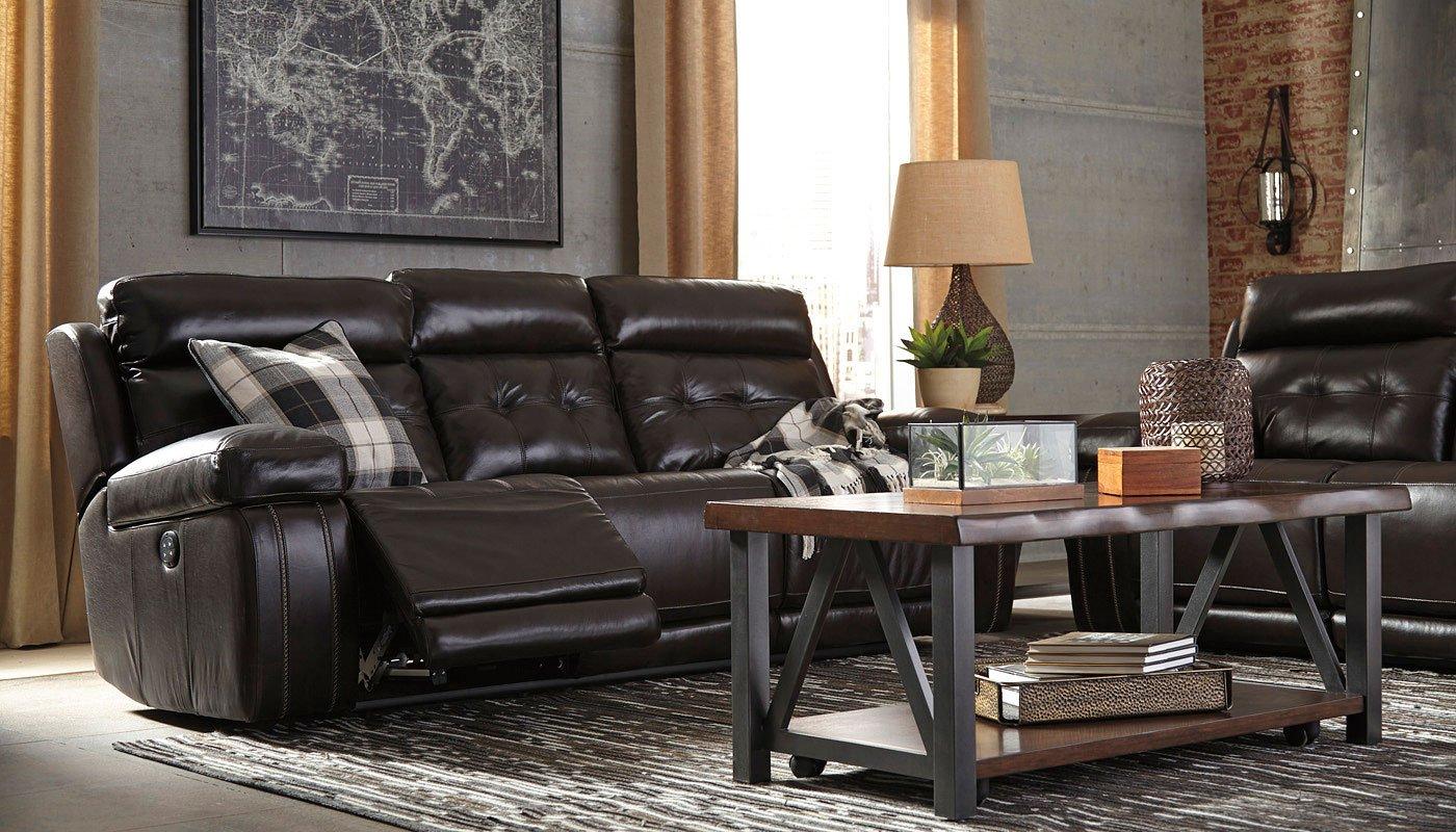 graford walnut power reclining living room set