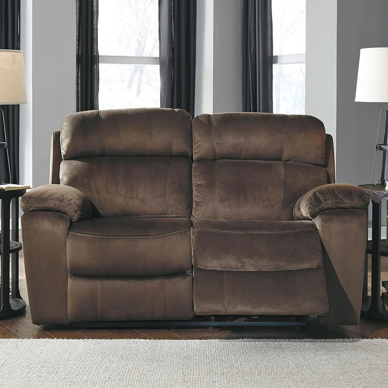 Uhland Chocolate Power Reclining Loveseat W Adjustable