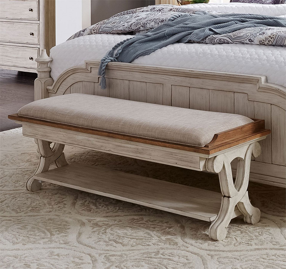 Farmhouse Reimagined Bed Bench By Liberty Furniture