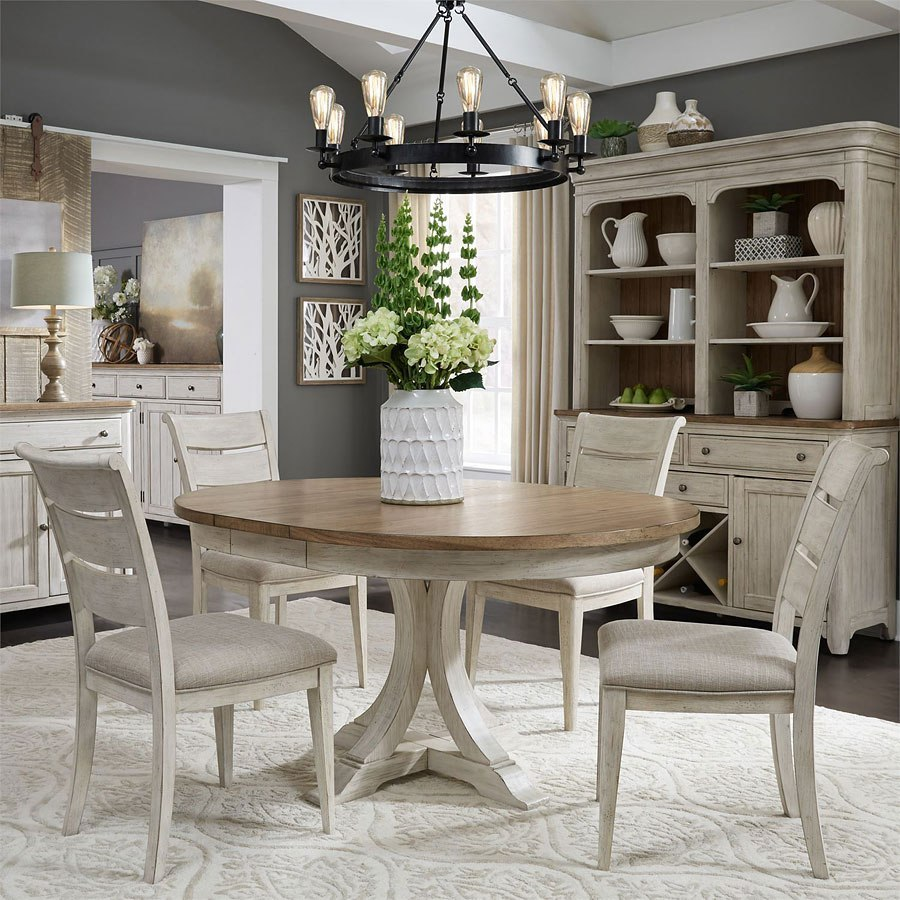 Farmhouse Reimagined Oval Dining Room Set By Liberty