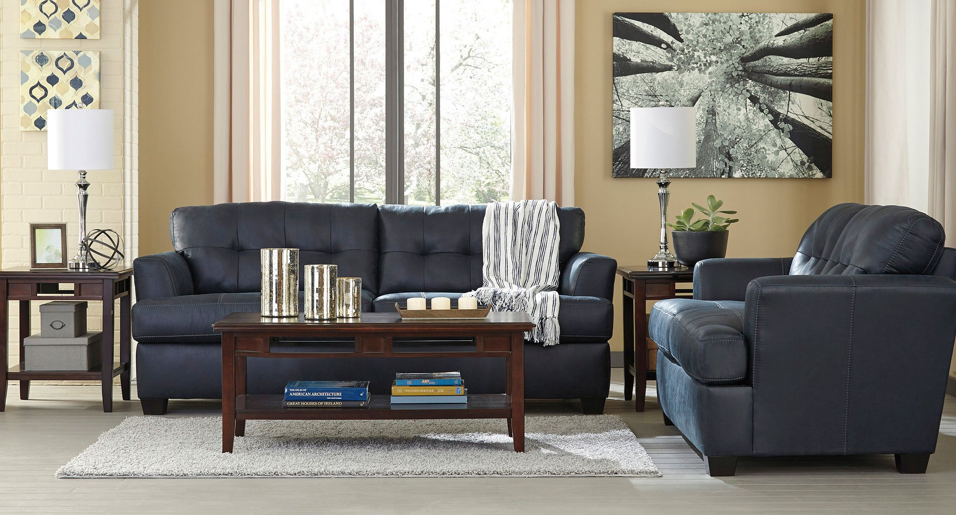 Inmon Navy Living Room Set by Benchcraft 1 Reviews