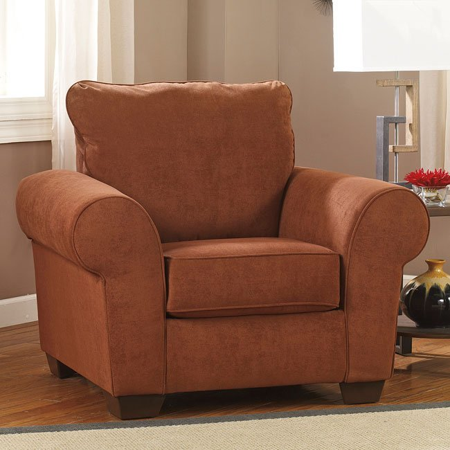 Deandre Terra Cotta Chair Chairs Living Room Furniture