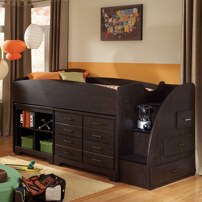 Hideout Loft Bed W Right Stairs By Standard Furniture Furniturepick