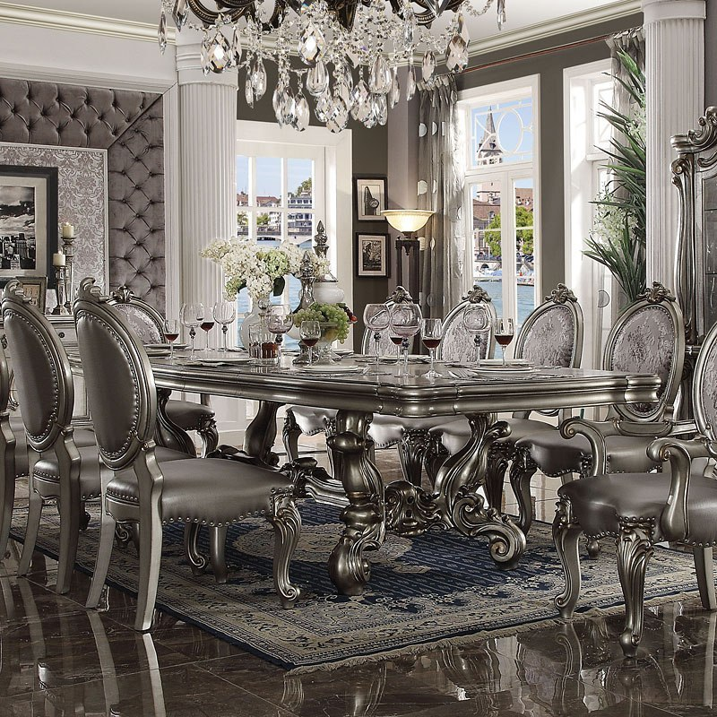 Versailles 120 Inch Dining Table (Antique Platinum) By