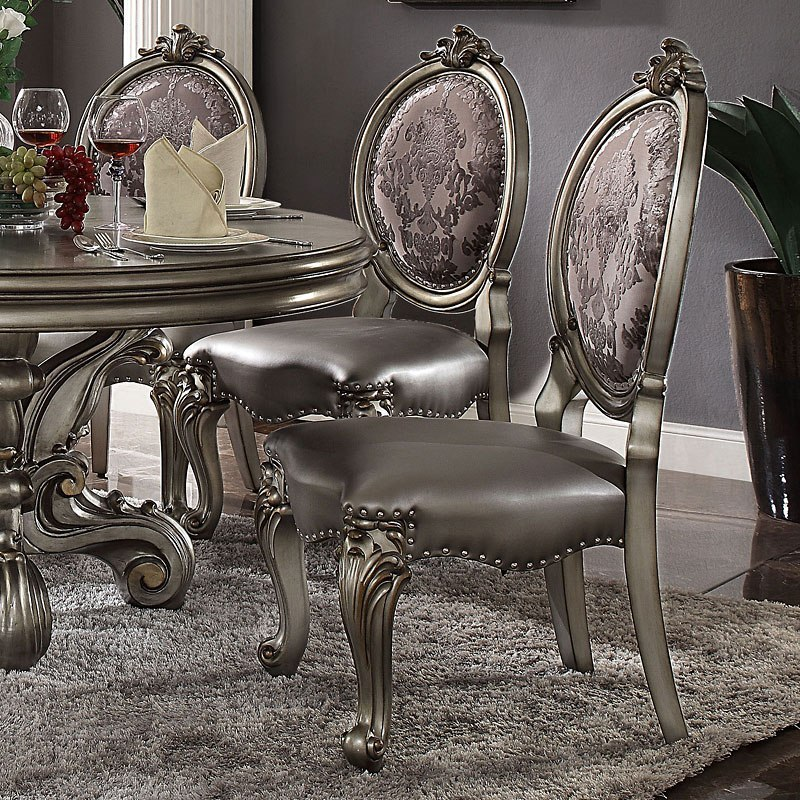 Versailles 120 Inch Dining Room Set (Antique Platinum) By