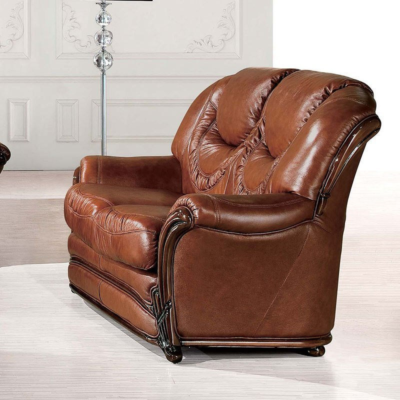 Italian Living Room Furniture Sets: 67 Italian Leather Living Room Set By ESF Furniture